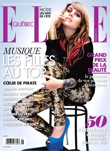 Elle Quebec French Magazine Charlotte Cardin Cover August 2016 Issue