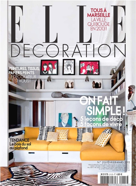 Download elle decoration france february march 2013 for Elle decoration france