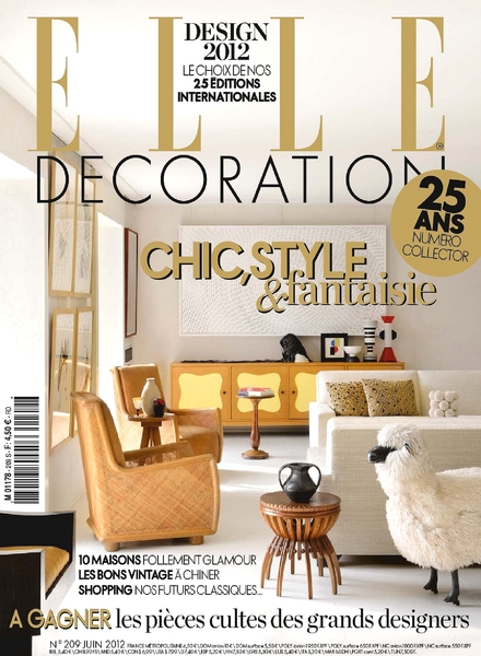 Download elle decoration france june 2012 pdf magazine for Elle decoration france