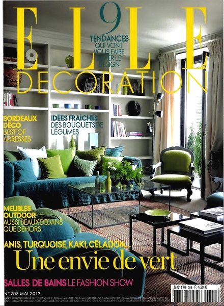 Download elle decoration france may 2012 pdf magazine for Art decoration france