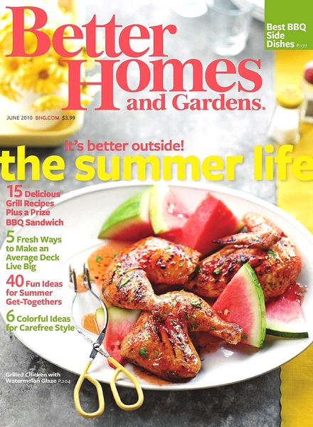 Download better homes gardens june 2010 pdf magazine Better homes and gardens download