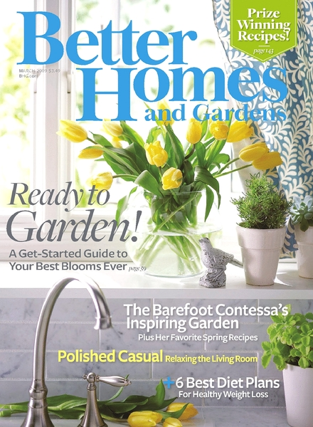 Download better homes gardens march 2009 pdf magazine Better homes and gardens march