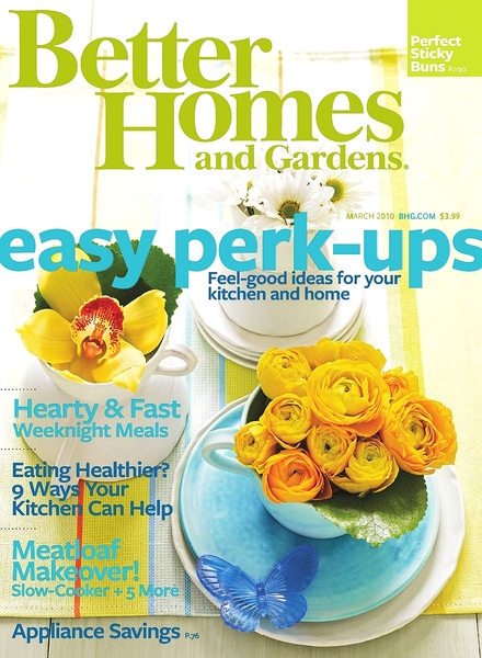 Download better homes gardens march 2010 pdf magazine March better homes and gardens
