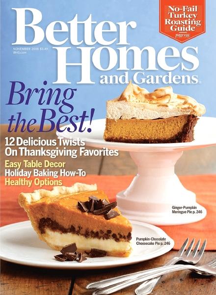 Download Better Homes Gardens November 2008 Pdf Magazine