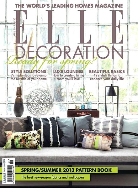 Download Elle Decoration Uk April 2013 Pdf Magazine
