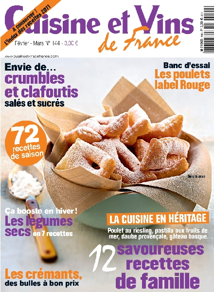 download cuisine et vins de france 144 fevrier mars 2012 pdf magazine. Black Bedroom Furniture Sets. Home Design Ideas