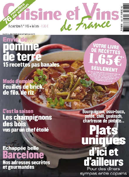 download cuisine et vins de france 148 novembre 2012 pdf magazine. Black Bedroom Furniture Sets. Home Design Ideas
