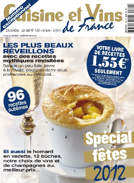 Download cuisine et vins de france 149 decembre 2012 for Cuisine et vins de france