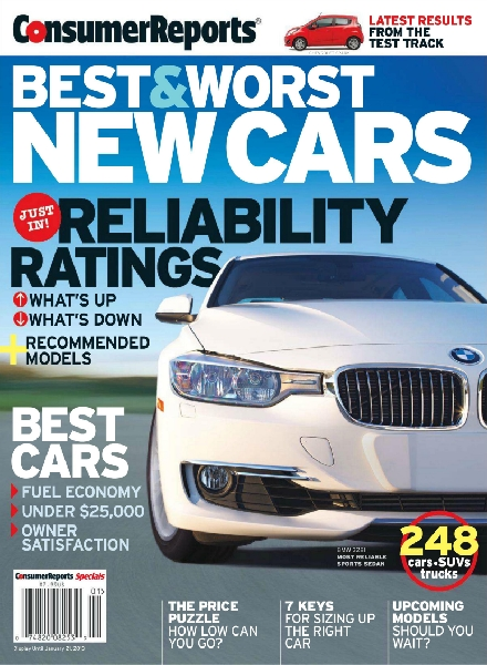Consumer Reports – Best & Worst New Cars 2013