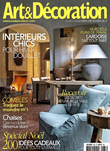 Download Art & Decoration 483 – Novembre 2012   PDF Magazine