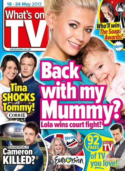 download what s on tv 18 may 2013 pdf magazine. Black Bedroom Furniture Sets. Home Design Ideas