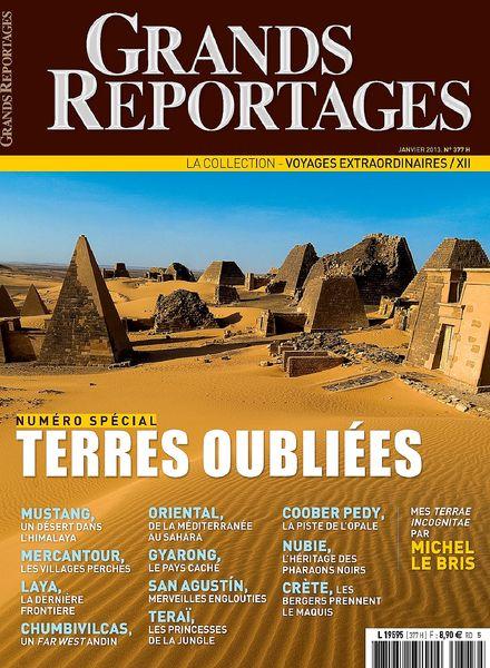 download grands reportages 377 janvier 2013 pdf magazine. Black Bedroom Furniture Sets. Home Design Ideas