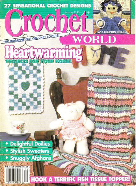 Crochet World - February 1995