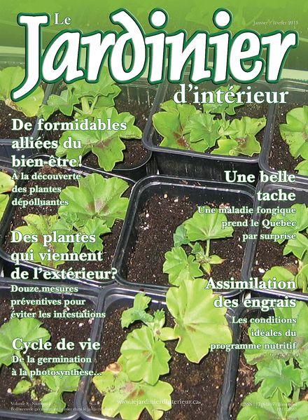 Download le jardinier d interieur janvier fevrier 2013 for Jardinier 78