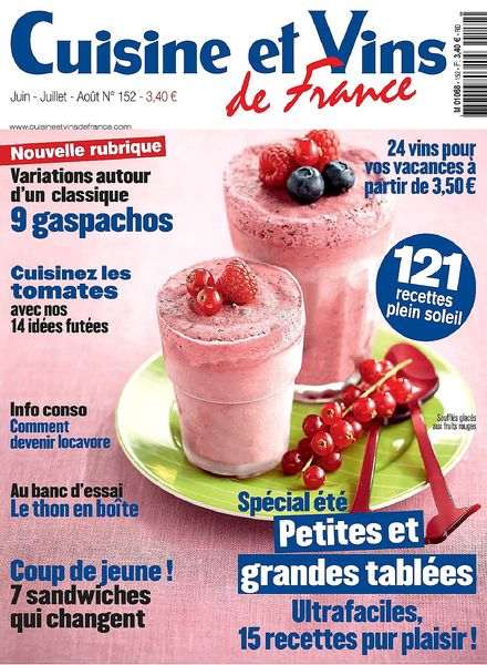 Download cuisine et vins de france juin aout 2013 pdf - Cuisine et vin de france ...