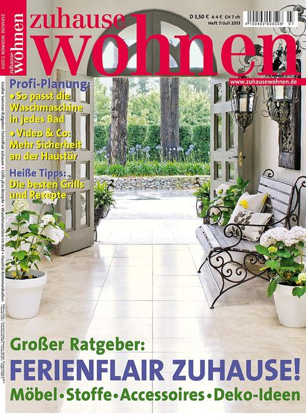 download zuhause wohnen magazin juli 2013 pdf magazine. Black Bedroom Furniture Sets. Home Design Ideas