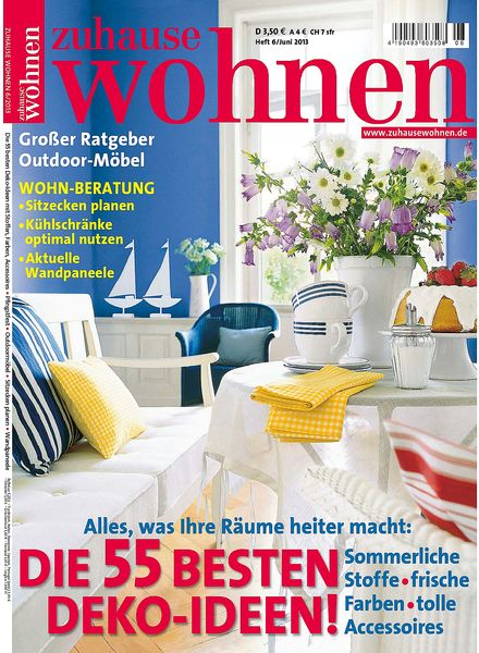 download zuhause wohnen magazin juni 2013 pdf magazine. Black Bedroom Furniture Sets. Home Design Ideas