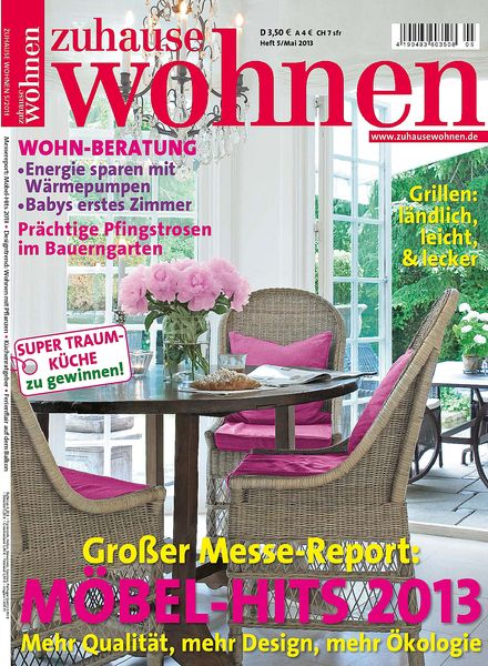 download zuhause wohnen magazin mai 2013 pdf magazine. Black Bedroom Furniture Sets. Home Design Ideas
