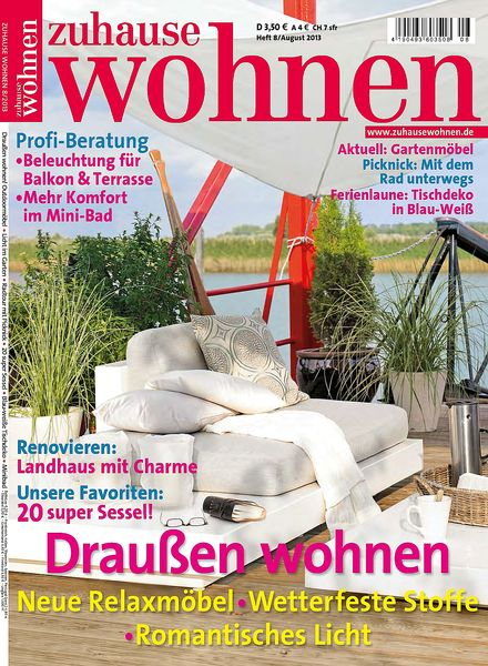 download zuhause wohnen august 2013 pdf magazine. Black Bedroom Furniture Sets. Home Design Ideas
