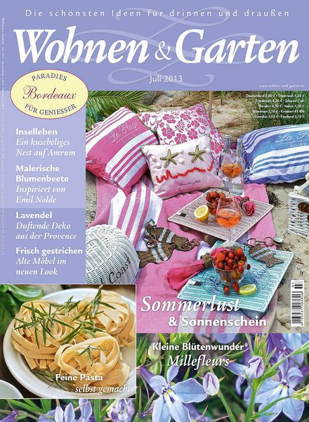 download wohnen garten juli 2013 pdf magazine. Black Bedroom Furniture Sets. Home Design Ideas
