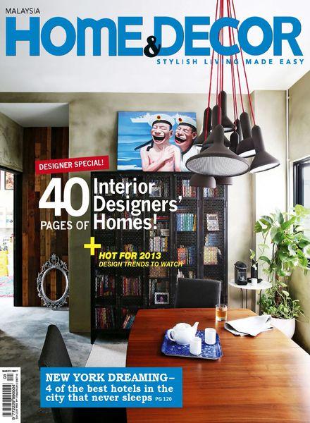 Download Home Decor Malaysia March 2013 PDF Magazine