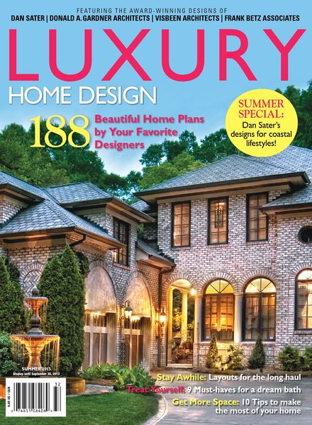 Download luxury home design issue hwl 23 summer 2013 for Luxury home plans magazine