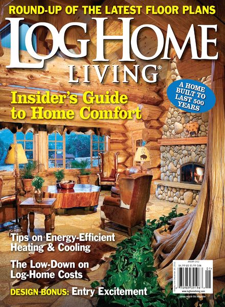 Download log home living january 2012 pdf magazine for Log home magazines