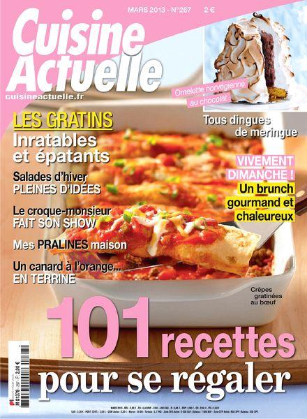 Download cuisine actuelle 267 mars 2013 pdf magazine for Cuisine actuelle