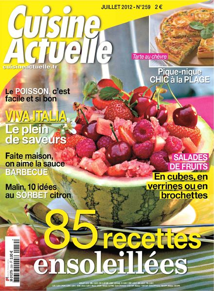 download cuisine actuelle 259 juillet 2012 pdf magazine. Black Bedroom Furniture Sets. Home Design Ideas