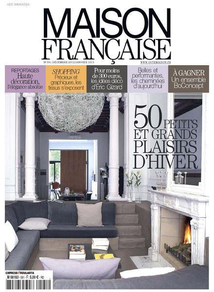 Download maison francaise 581 decembre 2012 janvier 2013 for Magazine maison francaise