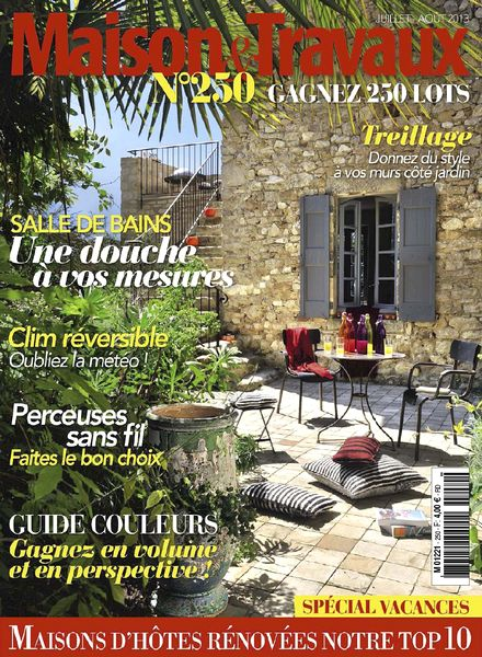 download maison travaux 250 juillet aout 2013 pdf magazine. Black Bedroom Furniture Sets. Home Design Ideas