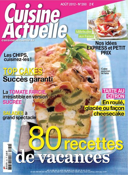 download cuisine actuelle 260 aout 2012 pdf magazine. Black Bedroom Furniture Sets. Home Design Ideas