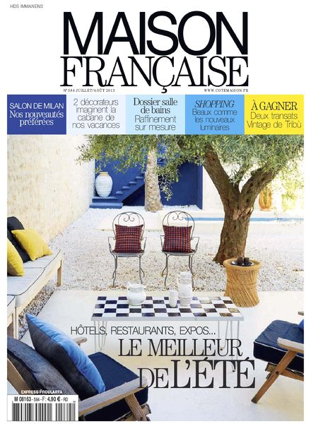 download maison francaise 584 juillet aout 2013 pdf. Black Bedroom Furniture Sets. Home Design Ideas