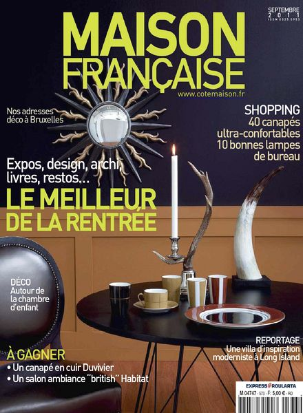 Download maison francaise septembre 2011 pdf magazine for Magazine maison francaise