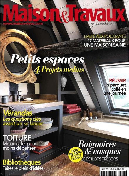 download maison travaux 247 mars 2013 pdf magazine. Black Bedroom Furniture Sets. Home Design Ideas