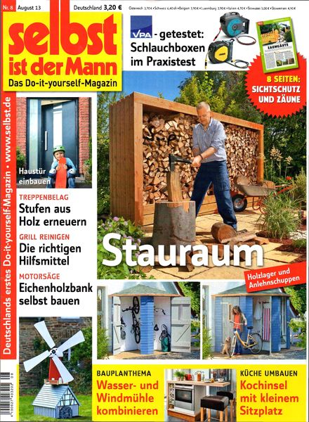 download selbst ist der mann august 2013 pdf magazine. Black Bedroom Furniture Sets. Home Design Ideas