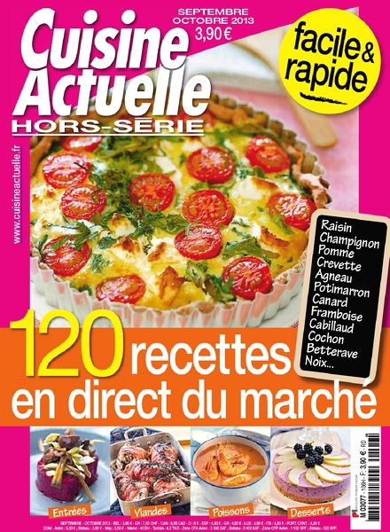 download cuisine actuelle hors serie 106 septembre octobre 2013 pdf magazine. Black Bedroom Furniture Sets. Home Design Ideas