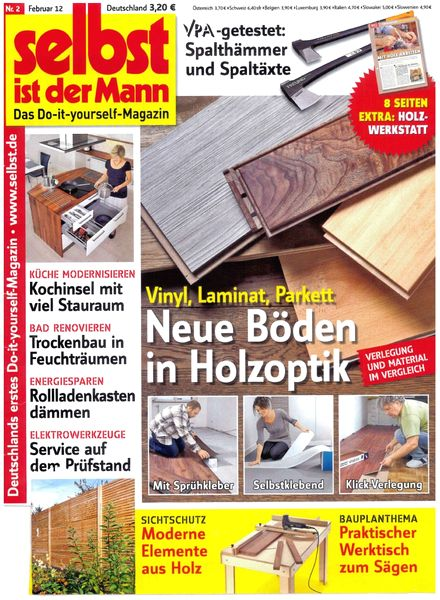 download selbst ist der mann february 2012 pdf magazine. Black Bedroom Furniture Sets. Home Design Ideas