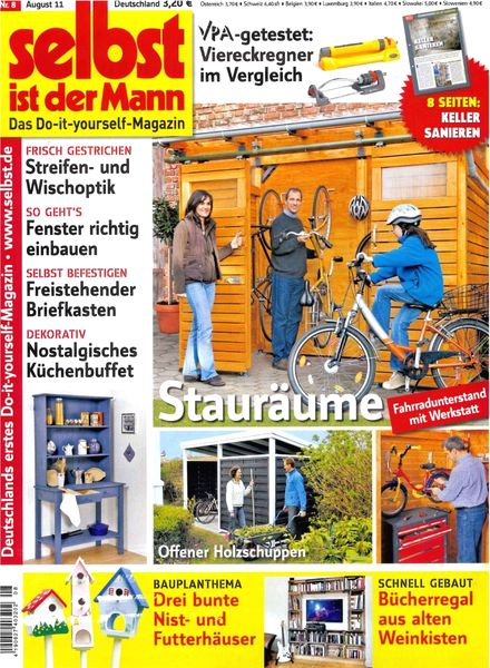 download selbst ist der mann august 2011 pdf magazine. Black Bedroom Furniture Sets. Home Design Ideas