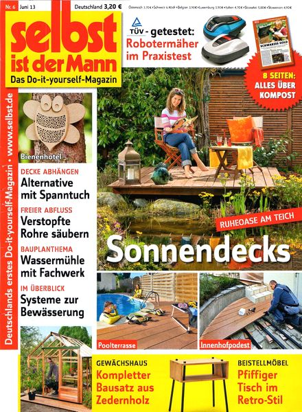 download selbst ist der mann juni 2013 pdf magazine. Black Bedroom Furniture Sets. Home Design Ideas