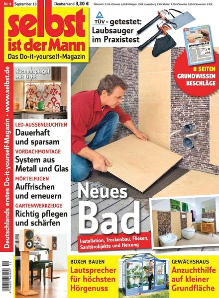 download selbst ist der mann september 2013 pdf magazine. Black Bedroom Furniture Sets. Home Design Ideas
