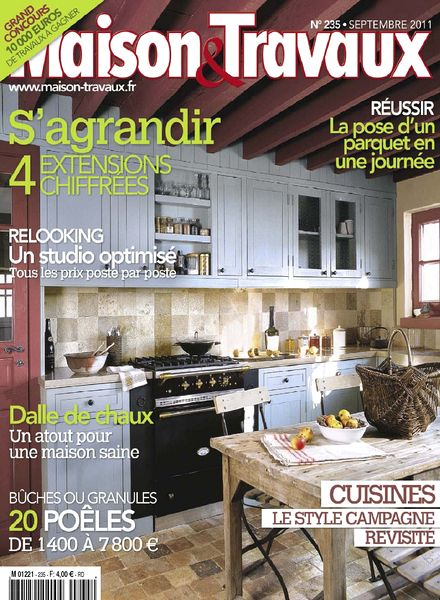 download maison travaux september 2011 pdf magazine. Black Bedroom Furniture Sets. Home Design Ideas
