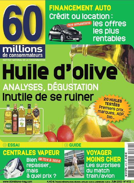 download 60 millions de consommateurs 472 juin 2012 pdf magazine. Black Bedroom Furniture Sets. Home Design Ideas