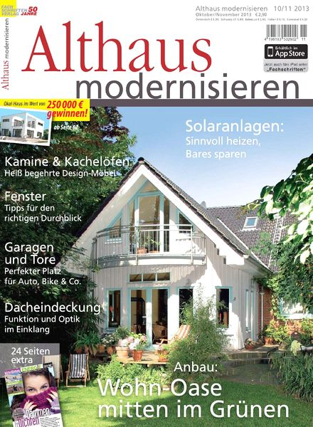 download althaus modernisieren oktober november 2013. Black Bedroom Furniture Sets. Home Design Ideas