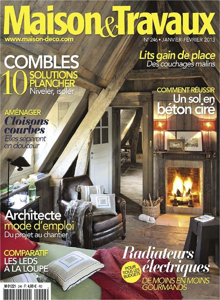 download maison travaux 246 janvier fevrier 2013 pdf magazine. Black Bedroom Furniture Sets. Home Design Ideas