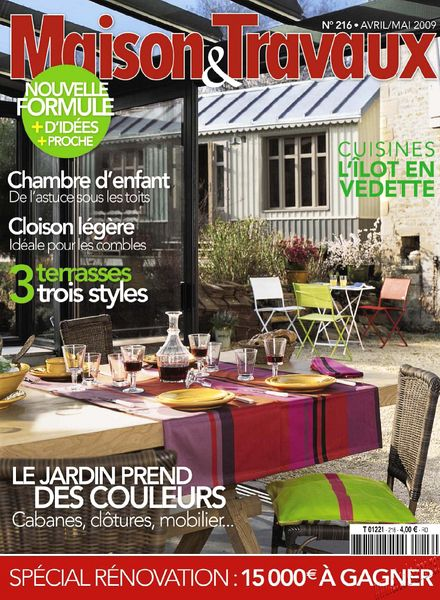 download maison travaux april may 2009 pdf magazine. Black Bedroom Furniture Sets. Home Design Ideas