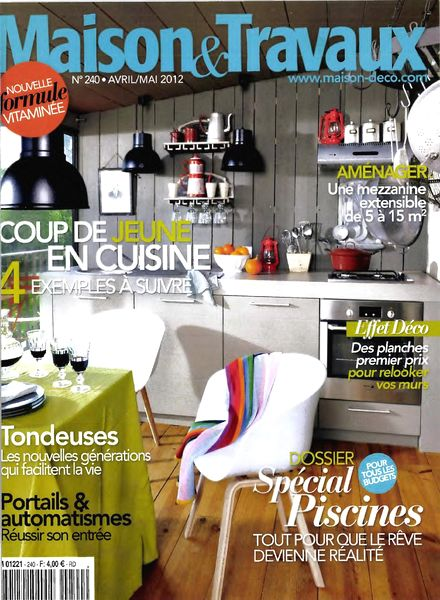 download maison travaux april may 2012 pdf magazine. Black Bedroom Furniture Sets. Home Design Ideas