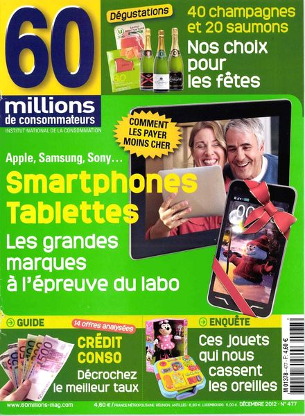 download 60 millions de consommateurs 477 decembre 2012 pdf magazine. Black Bedroom Furniture Sets. Home Design Ideas