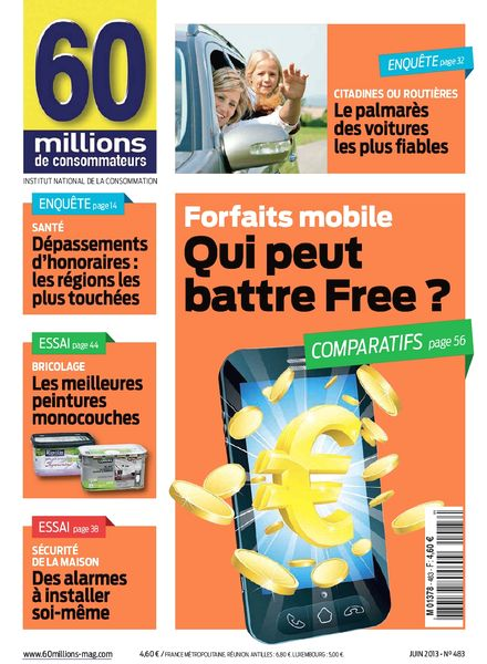 download 60 millions de consommateurs 483 juin 2013 pdf magazine. Black Bedroom Furniture Sets. Home Design Ideas