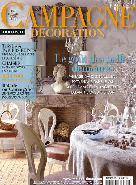 download campagne decoration 83 septembre octobre 2013 pdf magazine. Black Bedroom Furniture Sets. Home Design Ideas